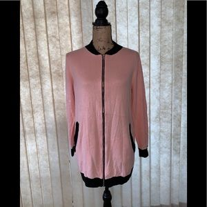Adorable NY Collection Pink Zip Up Cardigan 💕